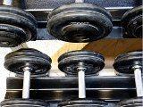výbava fitness centra, činky
