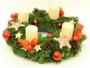 vianočné adventné vence