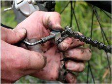 ako opraviť pretrhnutú reťaz na bicykli