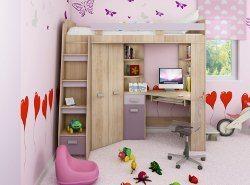 dievčenská poschodová posteľ