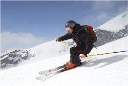 dlžka zjazdových lyží