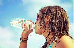 pitie vody a chudnutie