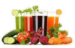 zeleninové a ovocné šťavy