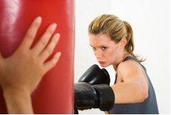 zlosť a boxovacie vrece