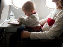 dojčenská strava v lietadle