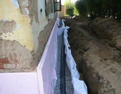 inštalácia drenážnych rúrok
