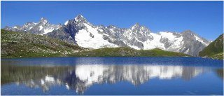 ľadovec v horách