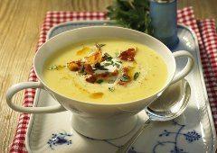 ako urobiť zemiakovú polievku so syrom