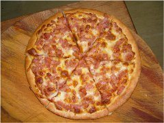 domáca šunková pizza