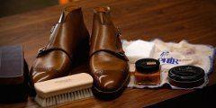 čistenie kožených topánok
