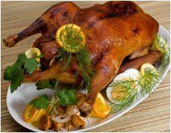 recept ako na plnenú pečenú kačicu