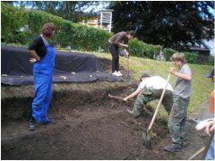 príprava záhrady pred tvorbou skalky