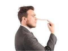 lož klamanie a dlhý nos