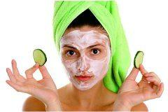 pleťová maska a uhorky