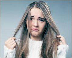 odstránenie mastných vlasov