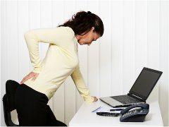 sedavé zamestnanie práca s počítačom a bolesť chrbtice