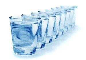 poháre vody