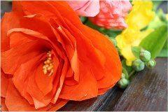 ako si vyrobiť kvetinu z hodvábneho papiera