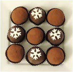 fínske vianočné čokoládové cukríky