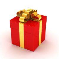 perfektne zabalený vianočný darček na švajčiarský spôsob