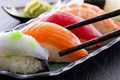 sushi s nakladanou reďkovkou a jeho príprava
