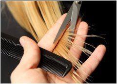 zastrihávanie končekov kvôli lámaniu vlasov