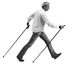 správna technika nordic walkingu