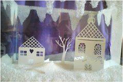 vianočná dekorácia z kryštlového cukru