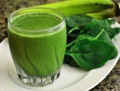 recept na zelené smoothie so špenátom