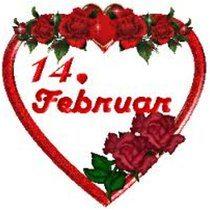 14. február a srdce