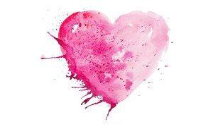 namaľovaná valentínka