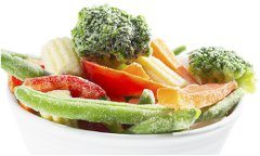 dokonale zmrazená zelenina