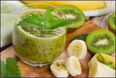 ako urobiť banan a kiwi smoothie