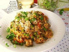 pečené rizoto s kuracím mäsom