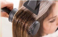 úprava vlasov pomocou fénu
