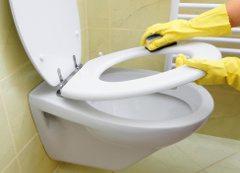 čistenie toalety