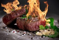 Flambovaný steak