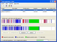 defragmentícia pri údržbe pevných diskov