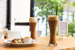 domáca ľadová káva so zmrzlinou