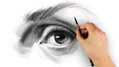 návod na kreslenie oči