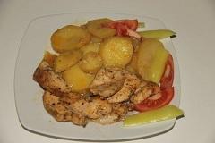 návod na morčacie mäso s pečenými zemiakmi