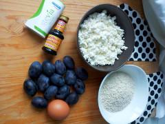 tvarohové slivkové knedle - ingrediencie