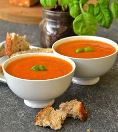 príprava talianskej paradajkovej polievky