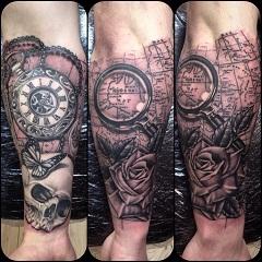 starať sa o čerstvé tetovanie