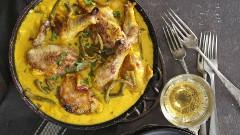 recept ako urobiť kura na víne