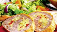 roládu z bravčového mäsa so zeleninou