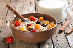 ovsené vločky na raňajky