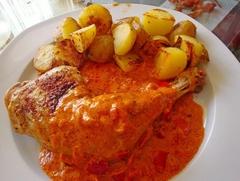 Kurča na paprike