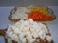 prísady na karfiolovú polievku