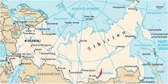 Mapa Sibíri